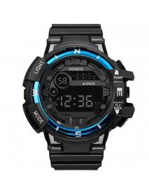 HONHX 81-66F Men Fashion Luminous Display Calendar Alarm Colock Sport Digital Watch