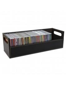 CD DVD Disk Storage Box Case Rack Holder Stacking Tray Shelf Space Organizer