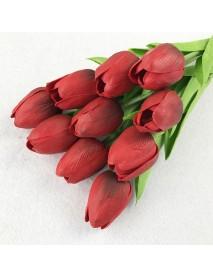10PCS Fake Artificial Silk Tulips Flores Artificiales Bouquets Party Artificial Flowers