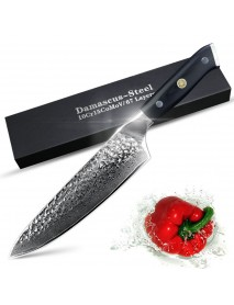 8-inch Thrashing Damascus Steel Chef Knife Non-stick  Multi-function Cooking Knife for Kitchen Tool
