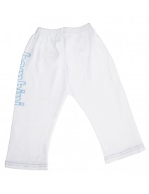 Bambini Boys White Pants with Print