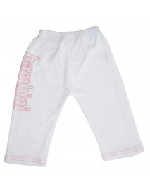 Bambini Girls White Pants with Print