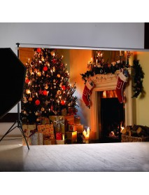 1.5*2m Fireplace Christmas Photography Background Cloth Backdrops Decoration Toys