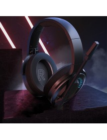 Baseus GAMO D05 Gaming Headphone Colorful RGB Light Virtual Stereo Surround Headset with HD Mic with USB Port