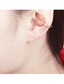 1Pcs Punk U Shape Ear Clip Black Gold Silver Color Cross Cartilage Earring for Women for Men