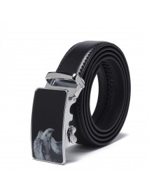 120CM 125CM Mens Business Two-Layer Leather Alloy Automatic Buckle Belt Professional Waist Belts