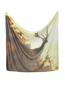 Deer Tapestry Forest Landscape Printed Wall Tapestry Hanging Background Cover Bedspread Beach Yoga Mat