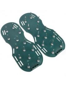 Gardening Grass Lawn Plastic Aerating Shoes Greensward Spikes Loosening Equipment