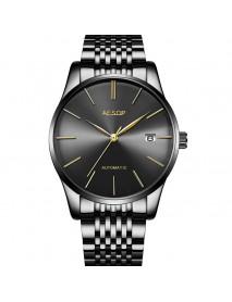 Aesop 1016G Business Style Automatic Mechanical Watch Calendar Men Wrist Watch