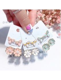 925 Sterling Silver Ear Drop Cute Dragonfly Flower Pearl Earring Gift for Women
