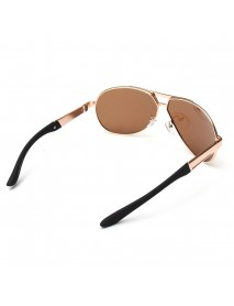 Men's Gold Polarized Sunglasses Driving Eyewear Glasses Outdoor Sport