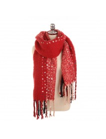 190*56 CM Women Winter Warm Vintage Artificial Cashmere Scarf with Tassel Long Shawl