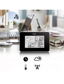 FanJu FJ3364 Digital Alarm Clock Weather Station Wireless Sensor Hygrometer Thermometer Multi-function LED Desktop Table Clock