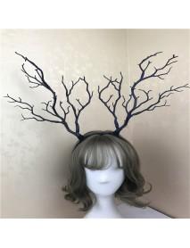 Giant Luxury Christmas Adult Elk Reindeer Antlers Headband Props Decoration