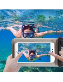 Haweel Waterproof Transparent Screen Touch Phone Bag for iPhone Xiaomi Huawei Mobile Phone
