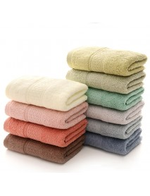 KCASA KC-X2 100% Cotton Solid Bath Towel Fast Drying Soft 10 Colors Thick High Absorbent