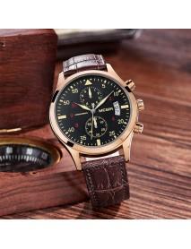 MEGIR ML2021G Men Watch Multifunction Chronograph Quartz Watch Complete Calendar Sport Watches