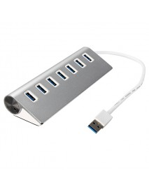5Gbps Hi-Speed Aluminum USB 3.0 7-Port Splitter Hub Adapter