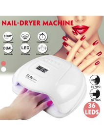 120w Nail Light Therapy Machine Quick-drying Painless Nail Polish Glue Baking UV Lamp