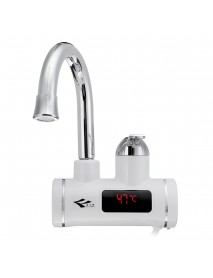 3000W Electric Heating Water Tap Temperature Display Hot Water Heater Faucet Home Bathroom