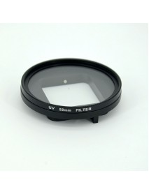 LINGLE 52mm UV Filter Lens Cover with Connect Ring Storage Bag for Gopro Hero 5 Black