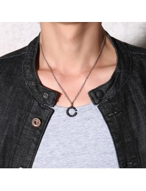 Fashion Stainless Steel Lovers Pendants Couple Necklace Creative Valentine's Day Gifts