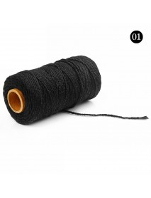 2mmx100m Multi-color Cotton Twist Rope DIY Materials Macrame Rustic Rope Hand Craft Rope Brush