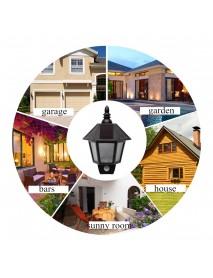 Solar Powered PIR Motion Sensor Wall Lamp Outdoor Patio Garden Lantern Lamp