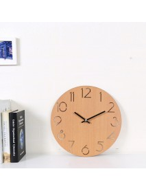 12 Creative Wall Clock European Wood Watch Modern Design Home Decor Silent