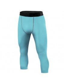 INCERUN Men Sport Compression Running Mid-rise Calf-Length Trousers Tight Pants