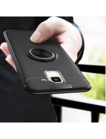 C-KU 360 Rotating Ring Grip Kicktand Protective Case For Samsung Galaxy J6 2018
