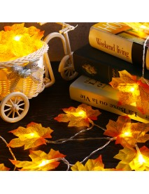 2M 20 LED Christmas Light Fall Maple Fairy String Light Autumn Leaf Lamp Garland Xmas Decor Gift