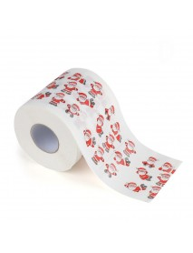 Bath Paper Christmas Printed Home Santa Claus Bath Toilet Roll Paper Christma Xmas Decor Tissue 170 Leaves Toilet Paper