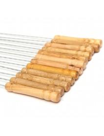 12X Stainless Steel Metal Barbeque Skewer Needle BBQ Kebab Stick Utensil 30cm BBQ Stick Fork