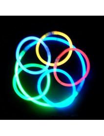 100pcs Multi Color Ritium Glow Sticks Dark Party Lights Bracelets Glow Sticks Wedding Decorations