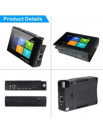 4 Inch 4K H265 H264 IP Camera Tester 8MP  AHD/TVI / CVI CVBS CCTV  Monitoring Tester PTZ Controller Rapid ONVIF IPC Tester POE