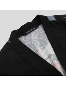 2019 Men Japanese Kimono Shirts Cardigan Spring Summer Casual Dragon Print Coats