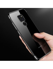 Cafele Transparent Plating Shockproof Soft TPU Back Cover Protective Case for Huawei Mate 20