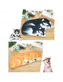 3D Cute Dog Pattern Doormat Indoor Print Door Mat Suedel Floor Rugs