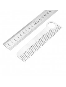 Tactical Comb Trainning Practice Metal Blade Comb Stainless Steel EDC Trainer Tool