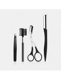 4 pcs Eyebrow Trimmer Suit Stereoscopic Cutting Eyebrow Skin Care Clip Comb for Girls