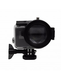 58mm 16X Macro Lens Close Up Filter with Lens Base Adapter Ring for Gopro Hero 5