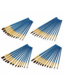12Pcs Painting Brush Pearl Blue Drawing Brush Watercolor Acrylic Brush Set Professional Oil Painting Tools Art Supplies
