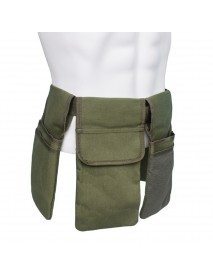 Garden Tool Belt 4 Separate Pockets Waterproof Cavans Adjustable Non-slip Belt for Portable Working Tools