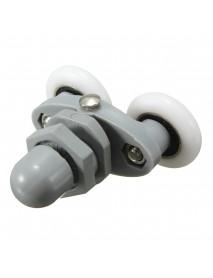 4PCS Twin Bottom Top Shower Door Rollers Pulleys Wheels Runner Slider 20mm Shower Faucet Accessories