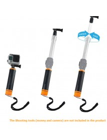 6.7-15.7'' Waterproof Selfie Stick for GoPro Extendable Transparent Floaty Pole Telescoping Grip