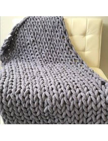 60 x 60cm Warm Winter Luxury Handmade Crocheted Bed Knitted Sofa Cover Blankets