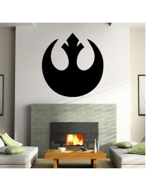 W-1 Star Wars Wall Stickers Removable  -  BLACK