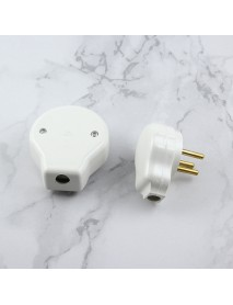 Dixinge Israel 3 Pin AC Electrical Power Rewireable Plug Male Female Plug Outlet Adaptor Wire Extension Cord Connector