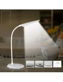 Loskii Adjustable Reading Light Touch Switch Table Lamp USB Rechargeable LED Desk Lamp